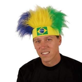 Bandeau Brésil avec cheveux tricolores