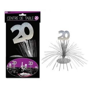 Centre de table anniversaire 20 ans