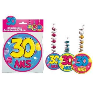 3 suspensions accordéons 30 ans