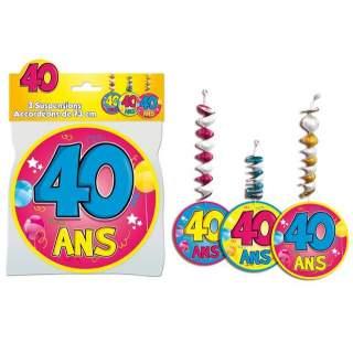 3 suspensions accordéons 40 ans