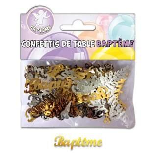 Confettis de table Baptême