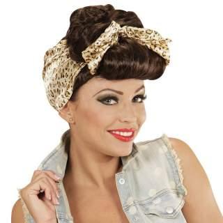 Perruque pin-up avec foulard