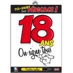 T-shirt dédicace anniversaire 18 ans