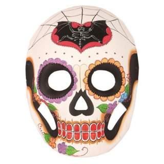 Masque squelette blanc décoré