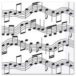16 serviettes notes de musique