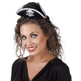 Serre-tête mini tricorne pirate