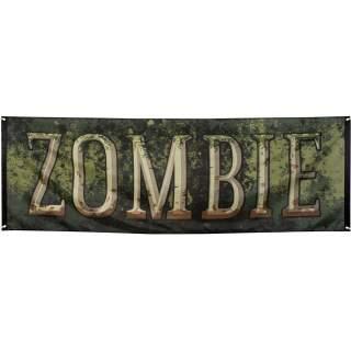 Bannière géante zombie