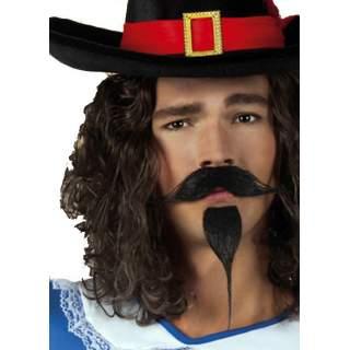 Moustache mousquetaire avec bouc