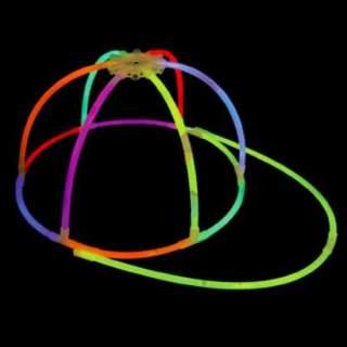 Casquette lumineuse fluo
