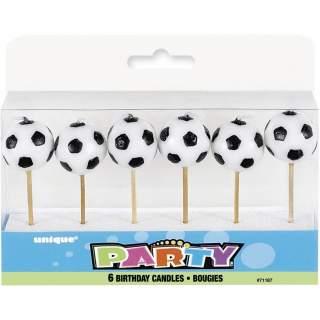 6 bougies ballon de football