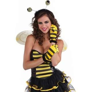 Gants abeille jaune et noir