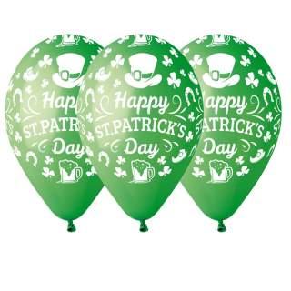 10 ballons vert Saint Patrick
