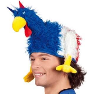 Chapeau poulet tricolore