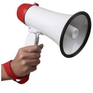 Mégaphone pour supporters