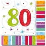 16 serviettes anniversaire 80 ans