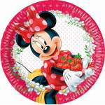 8 assiettes Minnie Mouse