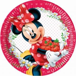 8 assiettes Minnie Mouse