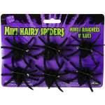 6 araignées velues noires