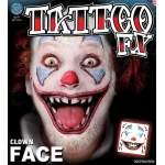 Tatouage tête de clown Halloween