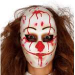Masque blanc en sang