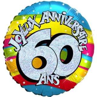 Ballon joyeux anniversaire 60 ans