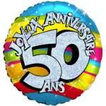 Ballon joyeux anniversaire 50 ans