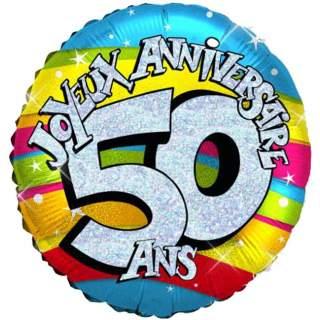 Emoticone Anniversaire 50 Ans.Ballon Joyeux Anniversaire 50 Ans