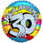 Ballon joyeux anniversaire 30 ans