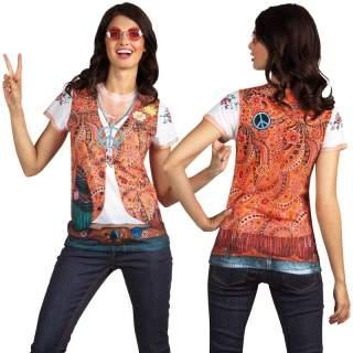 T-shirt photo réaliste hippie