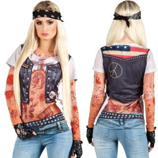 T-shirt photo réaliste biker girl