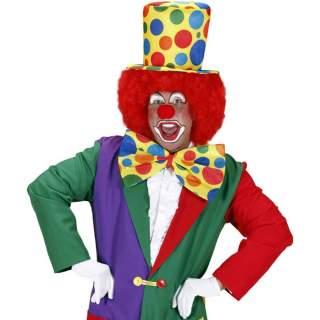 Haut de forme clown à pois