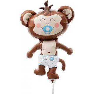 Ballon bébé singe garçon