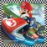 16 serviettes Mario Kart
