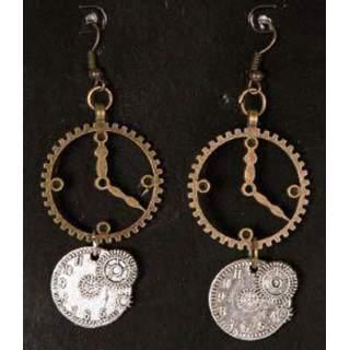 Boucles d'oreilles steampunk