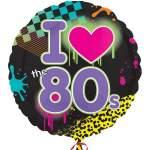 Ballon I love 80's