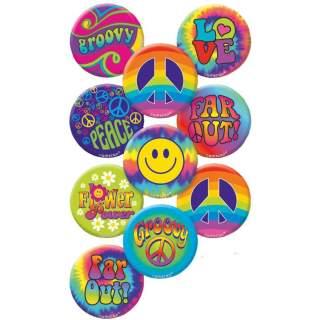 10 badges hippie