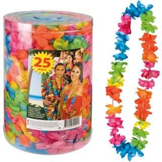 25 colliers Hawaï à fleurs