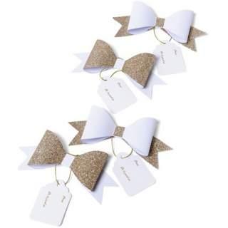 4 noeuds pap déco adhésifs avec étiquettes