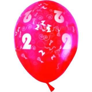 Sachet de 10 ballons chiffre 2