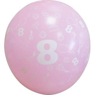 Sachet de 10 ballons chiffre 8