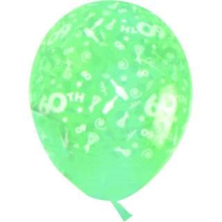 Sachet de 10 ballons chiffre 60