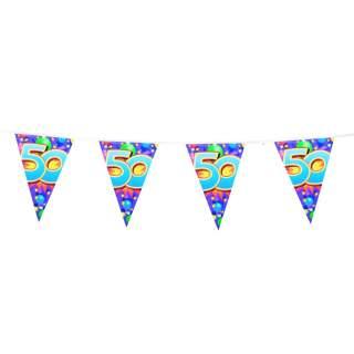 "Guirlande anniversaire chiffre ""50"""