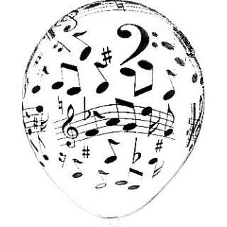 Sachet de 100 ballons notes de musique