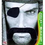 Moustache pirate avec poche oeil