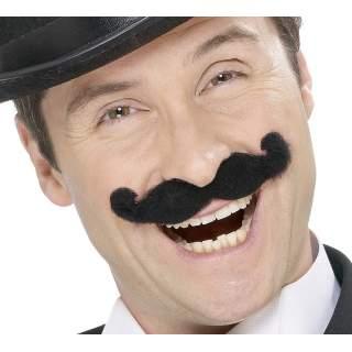 Moustache music hall noire