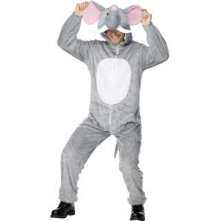 Déguisement peluche d'éléphant gris