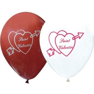 Sachet de 10 ballons Saint Valentin