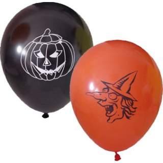 6 ballons noir et orange