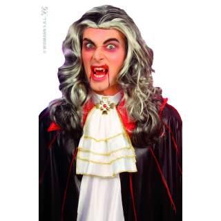 Perruque vampire méchée grise