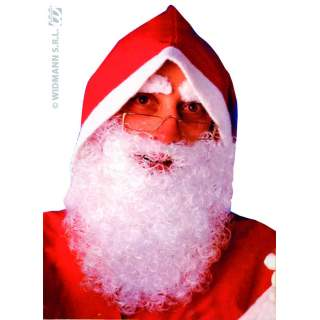 Barbe Père Noël nylon blanche